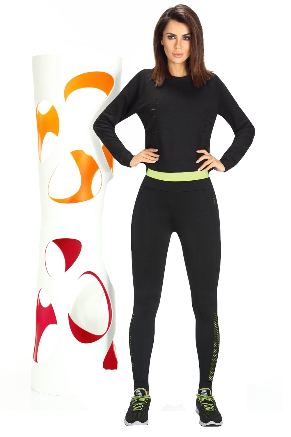 Fitness legíny Inspire black-green