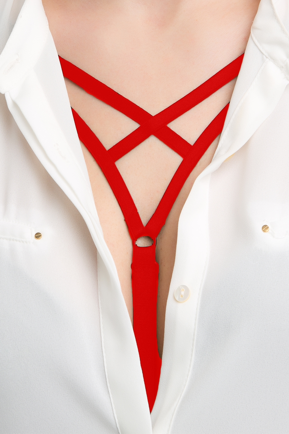 Raminka Decollete 426 cross red