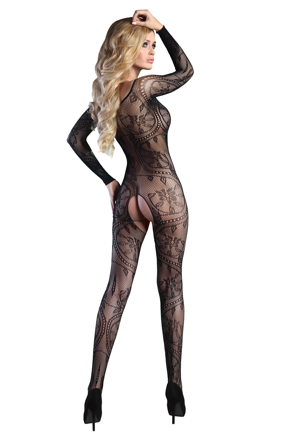 Bodystocking Abra black XXL