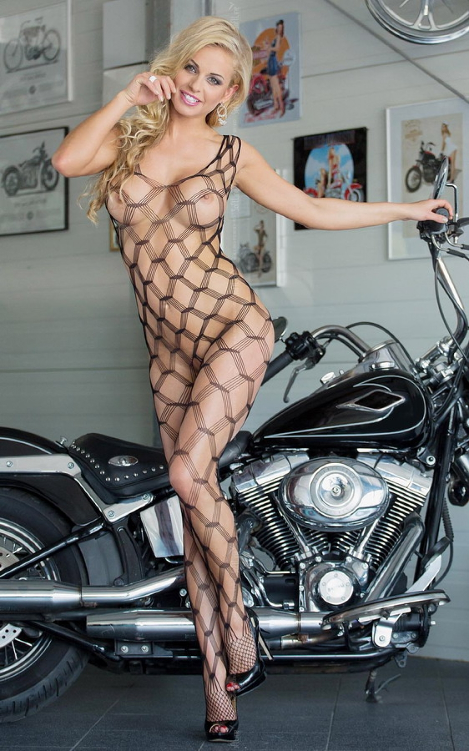Bodystocking She-cat black