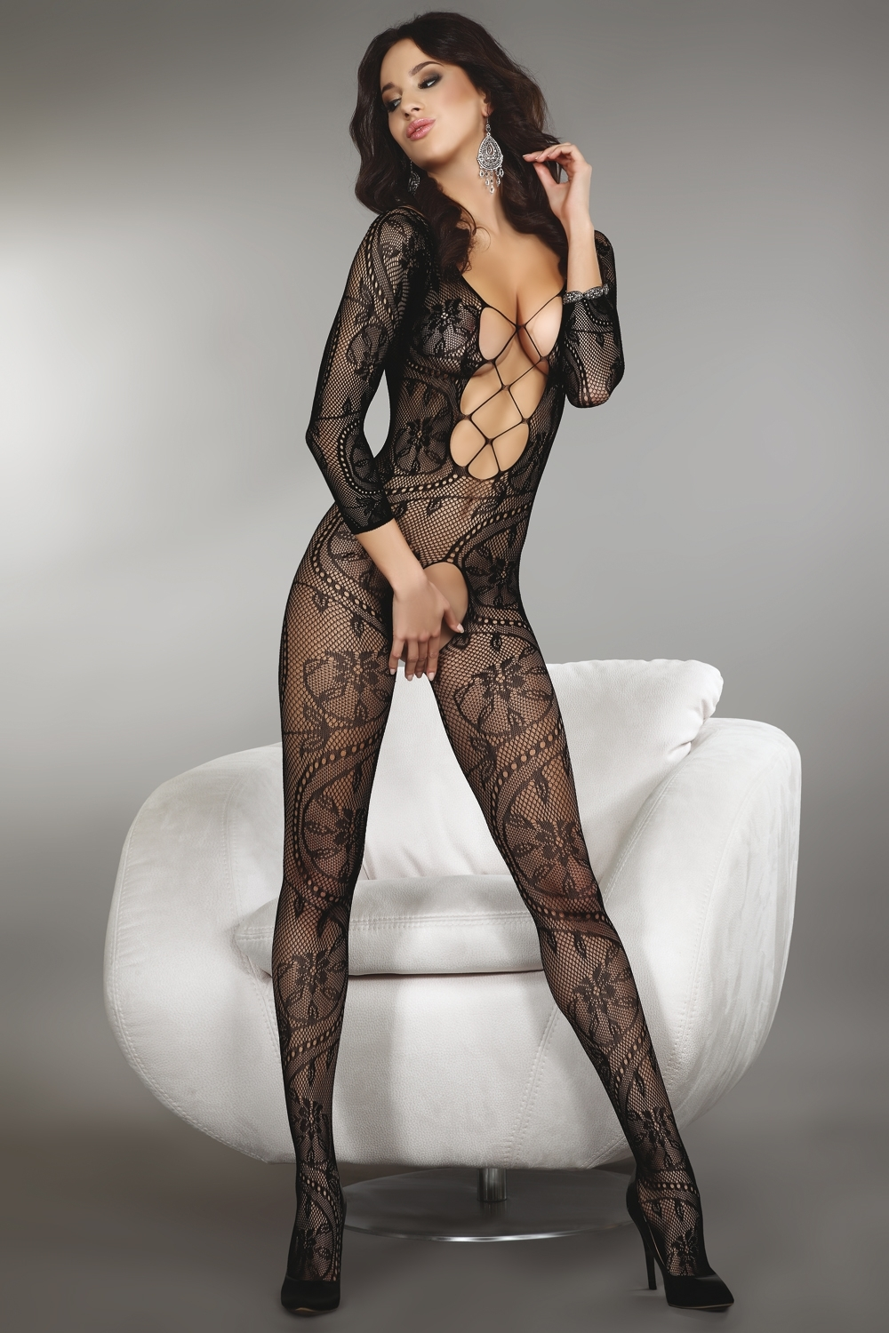 Bodystocking Zita black XXL
